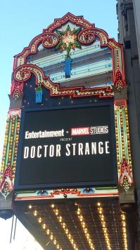 El Capitan Marquee for Doctor Strange screening
