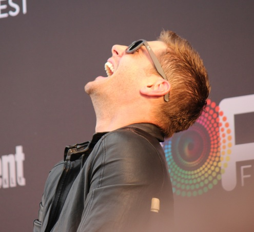 Jensen Ackles laughing